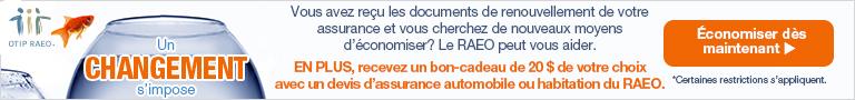 Un changement s'impose. Vous avez reçu les documents de renouvellement de votre assurance et vous cherchez de nouveaux moyens d'économiser? Le RAEO peut vous aider.